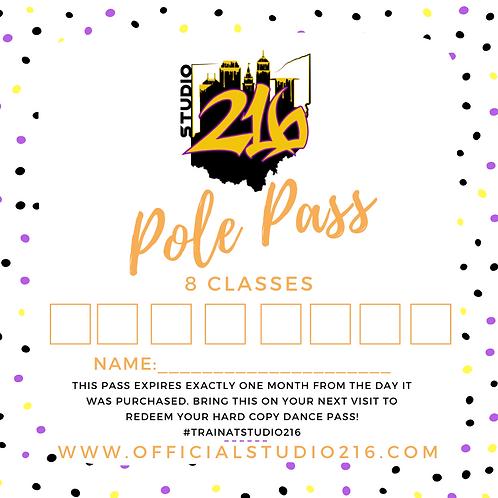 8 CLASSES - POLE PASS
