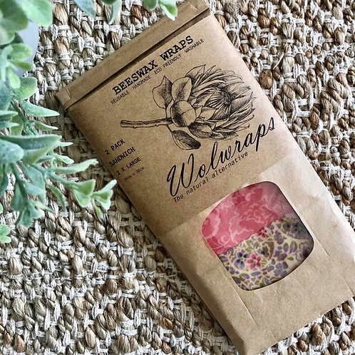 The Sandwich Pack - Beeswax Wraps