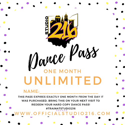 UNLIMITED CLASSES - DANCE PASS