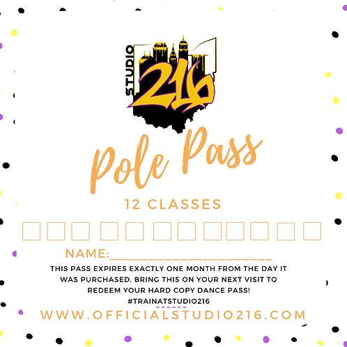 12 CLASSES - POLE PASS