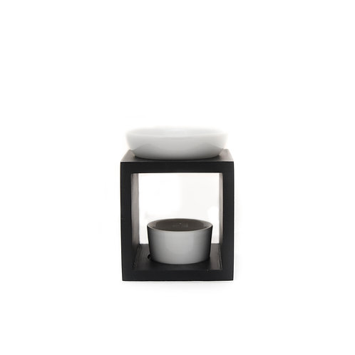 Black/White Timber Oil Burner