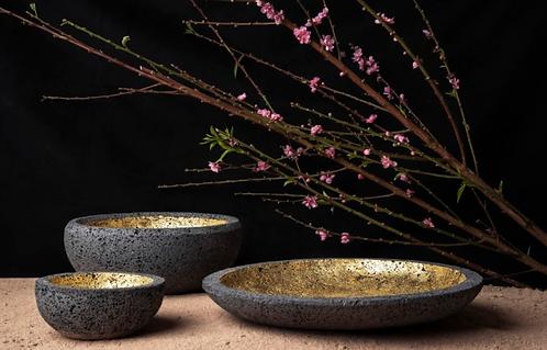 Bowl y platón oro Amón-Ra