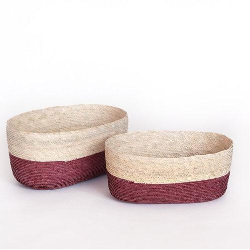 Canasta ovalada - frambuesa
