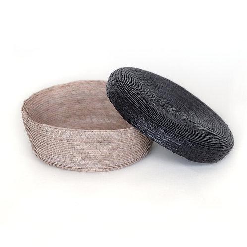 Cajita arena y negro