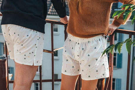girl and guy wearing boxer shorts