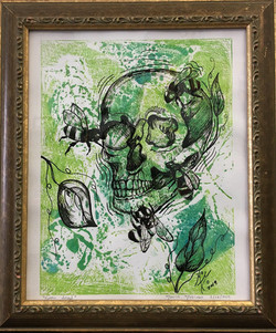 Green nature.  Collagraphy
