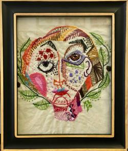 Multicolored woman.