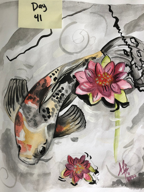 Between fish and flowers