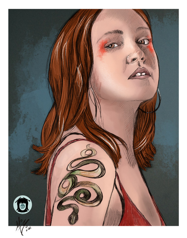 snake tattoo.