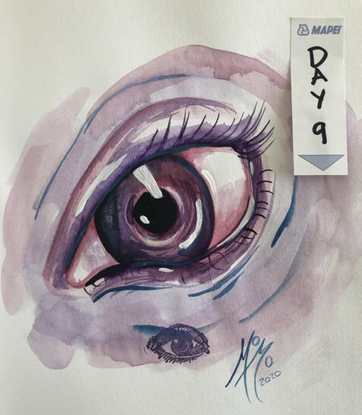 Day 9, Purple eye.