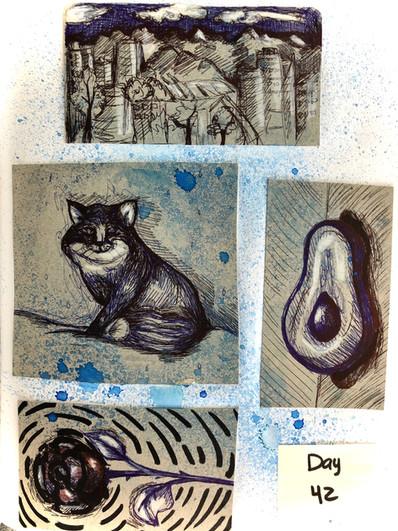 Four little drawings.