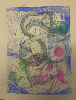 Woman and snake.