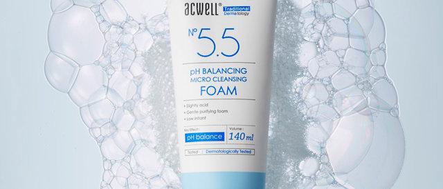 Acwell, pH5.5 Balancing Micro Cleasning Foam 140ml