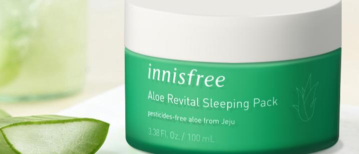Innisfree, Aloe 78% Revital Sleeping Pack 100ml