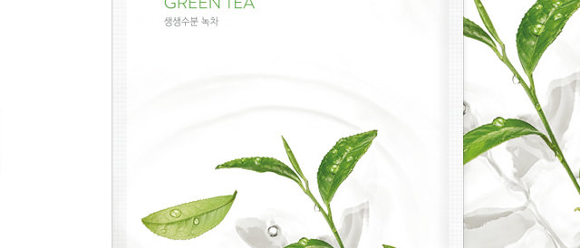 Nature Republic, Real Nature Mask Sheet [Green Tea] 23ml x 10EA (plastic wrap)