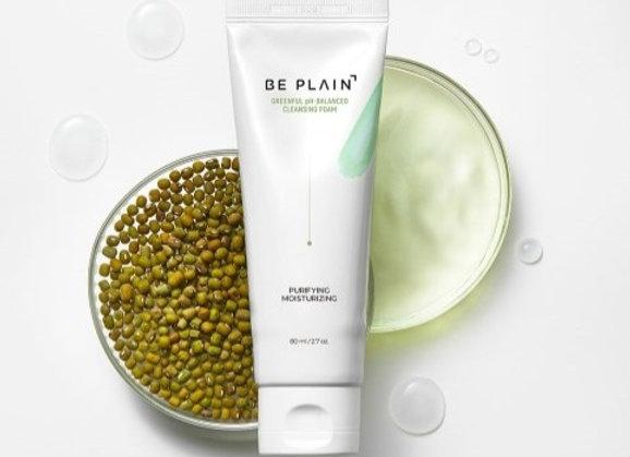Beplain, pH5.5 Mung Bean (+Green Tea Powder) Cleanser 80ml