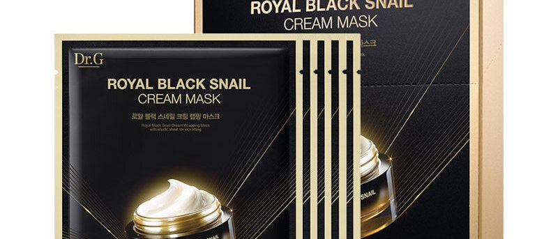 Dr.G, Royal Black Snail Cream Mask 16g X 5EA)