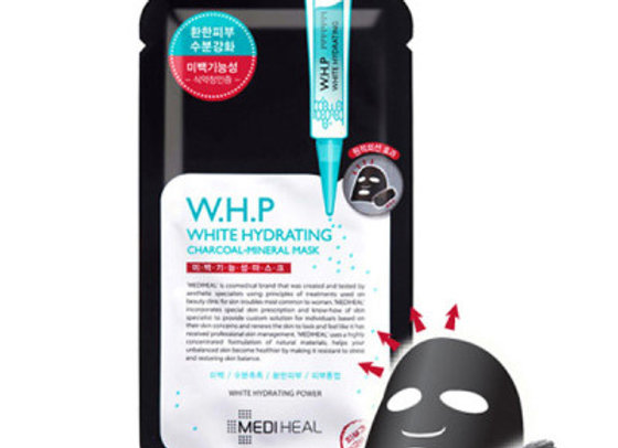 MEDIHEAL W.H.P White Hydrating Black Mask 25ml x 10ea (1 box)