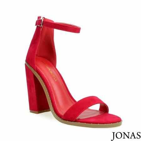 Ankle strap single sole block heel