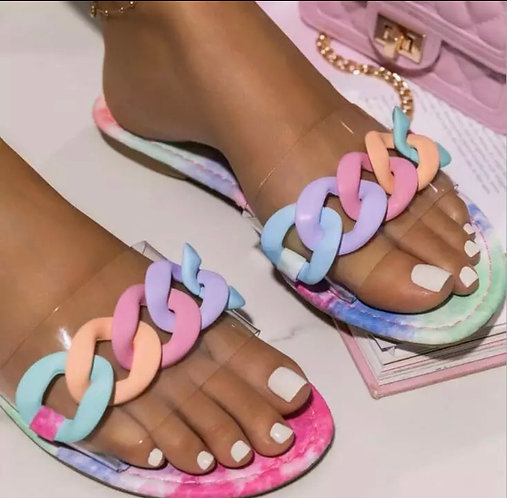 HOT Candy Color Ring Sandals women Casual Lightweight Outer Wear Large Size Slip