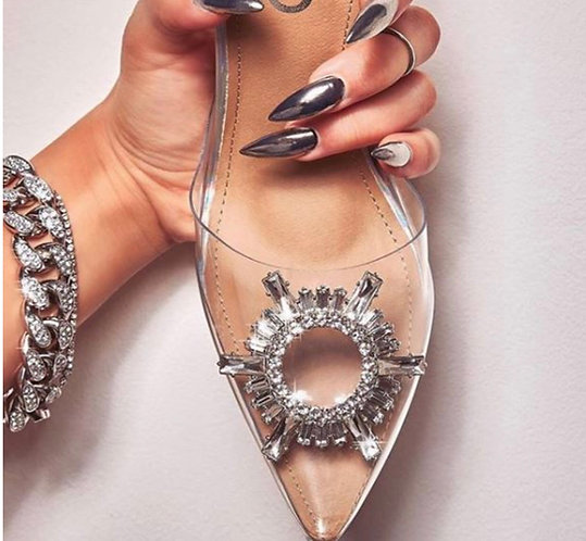 Luxury sexy transparent high heels