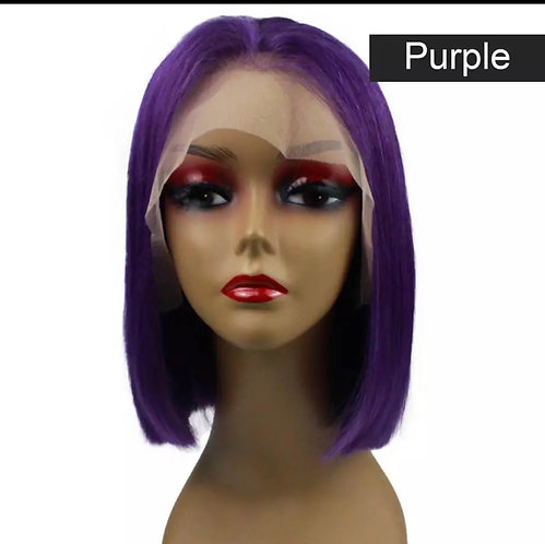 Lace Front Human Hair Short Wigs