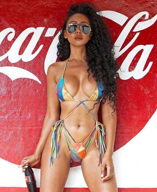 Women's Bandage Sexy Print Bikini Swimwear Swimsuit Bathing Suit Brazilian Bra