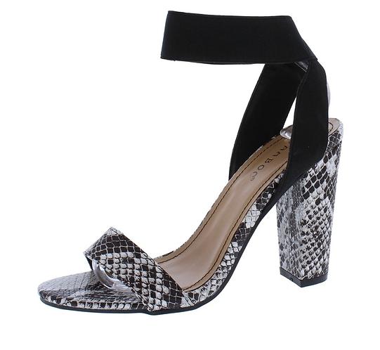Black snake high heels