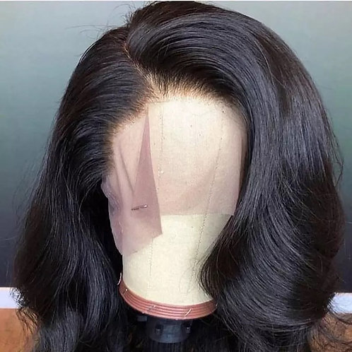 Brazilian Body Wave Lace Front Human Hair Wigs For Women Natural Black Bleached