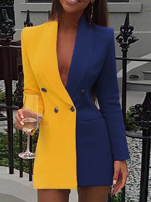 Women fashion color blazer