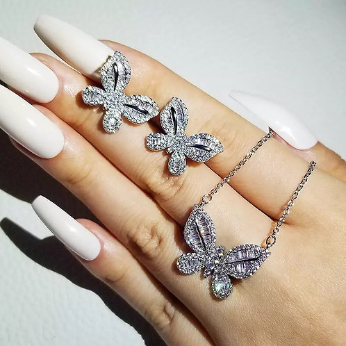 2021 new luxury Butterfly 925 sterling silver dubai wedding for women lady anniv