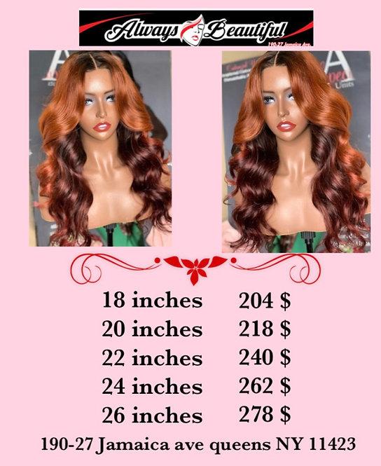 Human hair wavy type