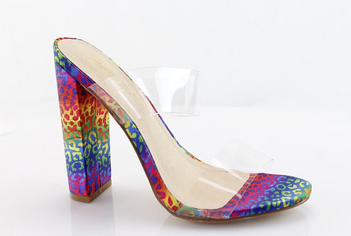 High transparent heels