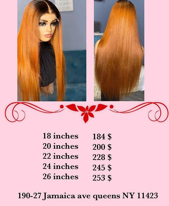 Long straight human hair