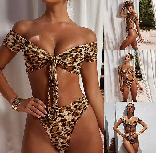 Women leopard bikinis sexy swimsuit
