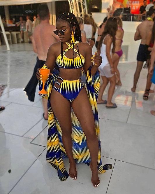 VAZN 2018 New Brand Fashion Sexy Beach Style 3 Piece Women Set 1 Piece X-Long Ou