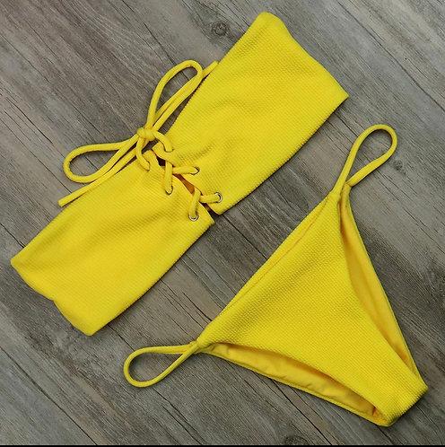 Solid Swimwear Women Sexy Padded Bikini