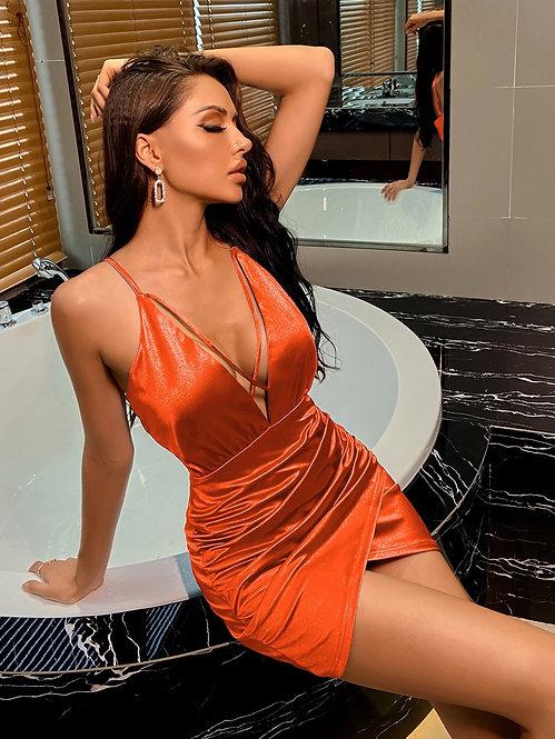 Details satin slip dress