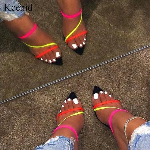Summer new slippers sexy 2019 fashion sandals women peep toe high heel wo