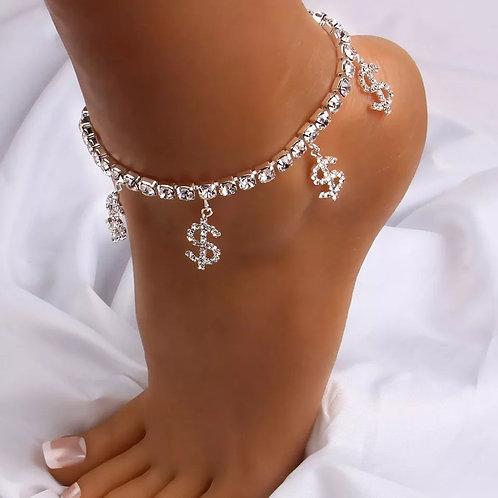 "Foot Circle Chain Ankle Summer Bracelet Taless ""S"" Shape Pendant Charm Sandals"