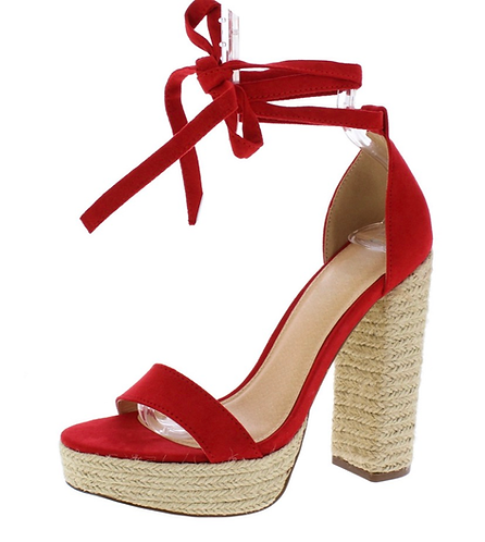 Red high sexy heels