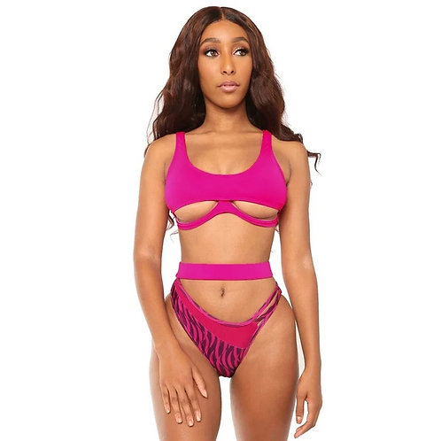 Bikini 2020 Push Up Swimsuit Tanga Sexy Swimwear High Leg Womens Bandage Bikiny