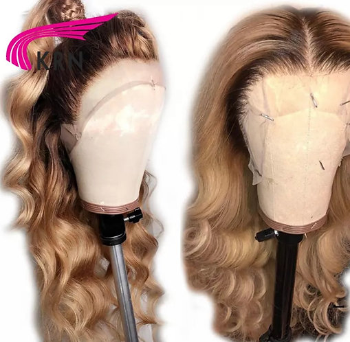 Ombre Brazilian Lace Front Human Hair Wigs