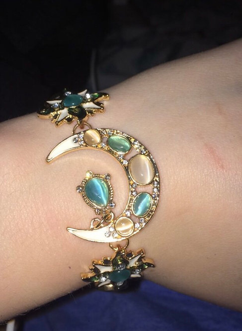 Fashion bohemian style asymmetry sun moon star bracelet