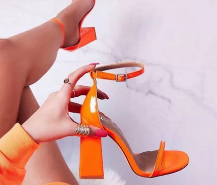 new summer women's shoes sandals block high-heeled open toe woman sandal