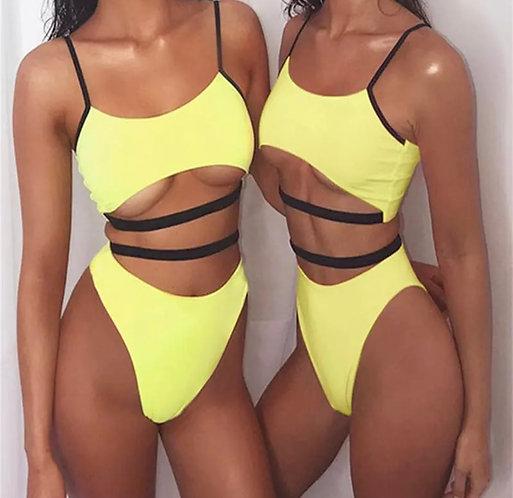 2019 Summer Sexy Women Padded Push-up Bikini Set Beach Swimsuit High Waist Bathi