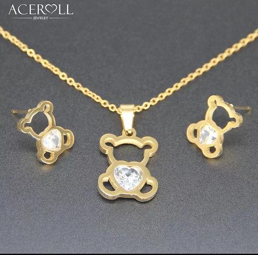 ACERO Cute Bear Jewelry Set