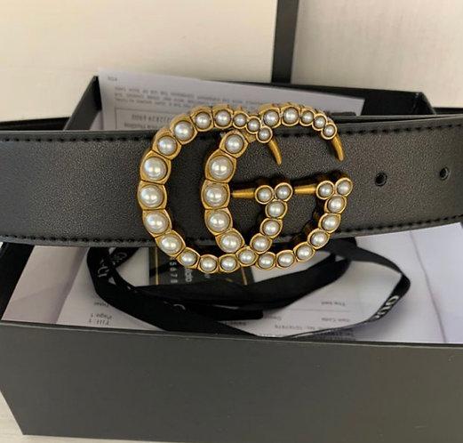 Gucci GG pearl buckle