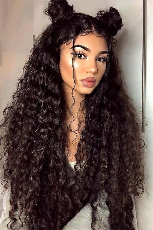 Custom made Boss hair,peruvian curly human wig