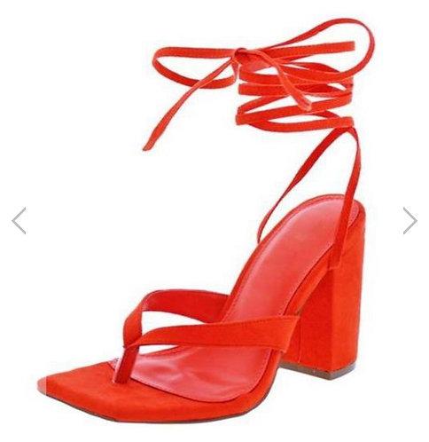 Lake04 Orange Women's Heel
